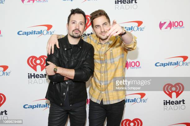 Dustin Belt and Kendall Schmidt attend Z100's Jingle Ball 2018 at Madison Square Garden on December 7 2018 in New York City