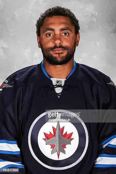 Dustin Byfuglien of the Winnipeg Jets poses for his official headshot for the 20152016 season on September 17 2015 at the MTS Centre in Winnipeg...