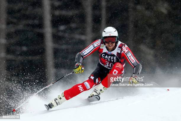 Dustin Cook of Canada competes during the Audi FIS Alpine Ski World Cup Men's Super G on December 15 2017 in Val Gardena Italy