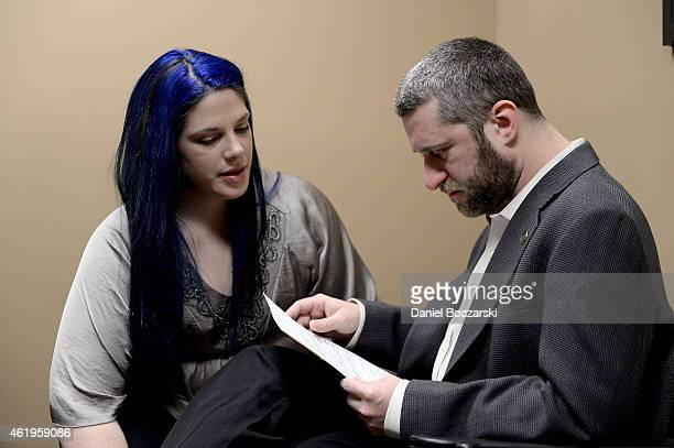 Dustin Diamond and Amanda Schutz attend their arraignment at Ozaukee County Courthouse on January 22 2015 in Port Washington Wisconsin Diamond best...