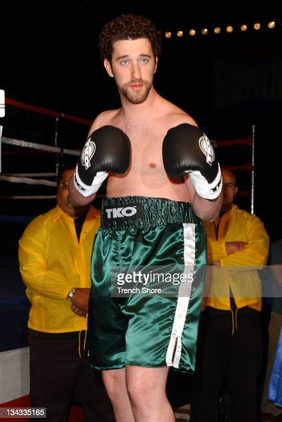 Dustin Diamond during 'Celebrity Boxing 2' WeighIn at KTLA Studios in Hollywood California United States