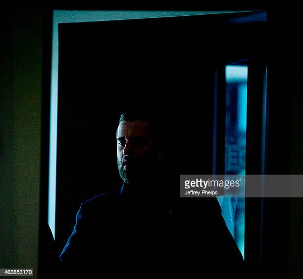 Dustin Diamond enters the courthouse as he attends further proceedings at Ozaukee County Courthouse on February 19 2015 in Port Washington Wisconsin...