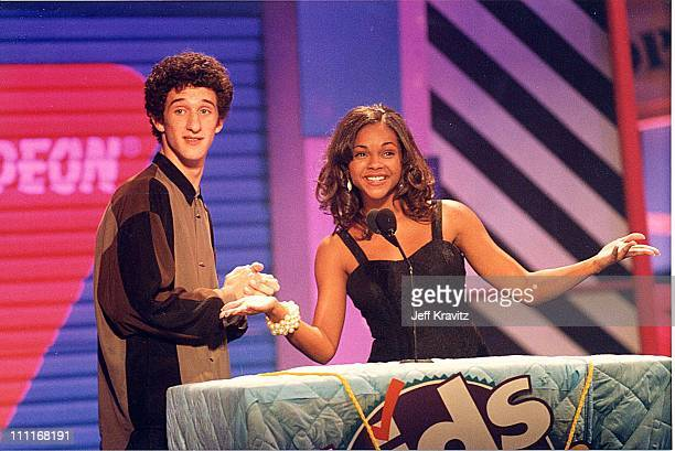 Dustin Diamond Lark Voorhies during 1994 Kid's Choice Awards in Los Angeles California United States