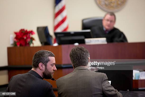 Dustin Diamond left listens during his preliminary hearing at Ozaukee County Courthouse on January 5 2015 in Port Washington Wisconsin Diamond best...