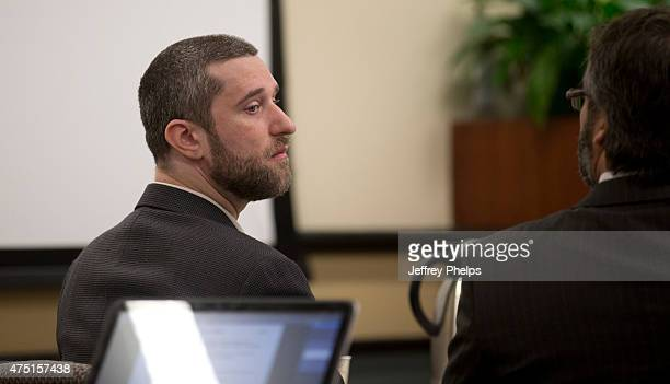 Dustin Diamond listens in the courtroom during his trial in the Ozaukee County Courthouse May 29 2015 in Port Washington Wisconsin Diamond best known...