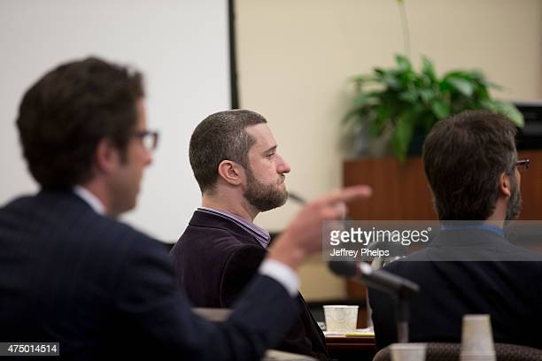 Dustin Diamond listens to one of his attorney during his trial in the Ozaukee County Courthouse May 28 2015 in Port Washington Wisconsin Diamond best...