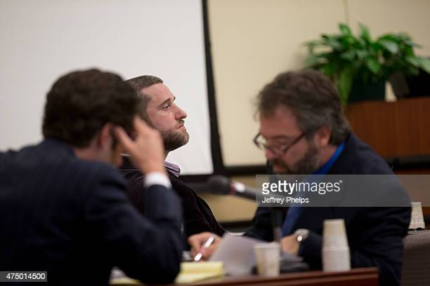 Dustin Diamond looks on as his attorneys talk during his trial in the Ozaukee County Courthouse May 28 2015 in Port Washington Wisconsin Diamond best...
