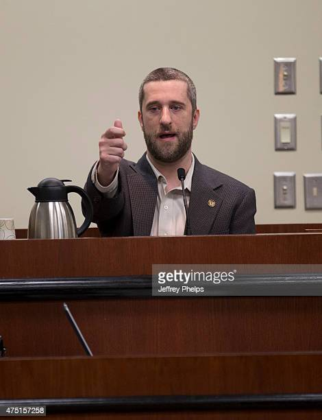 Dustin Diamond testifies how onlookers were using cell phones to take his picture in the courtroom during his trial in the Ozaukee County Courthouse...