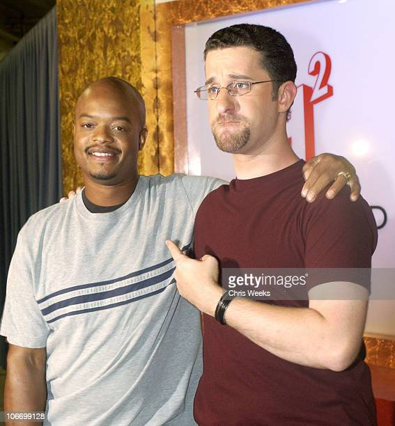 Dustin Diamond Todd Bridges during David Spade and CoStars from Paramount Pictures' 'Dickie Roberts Former Child Star' Tape Hollywood Squares at CBS...