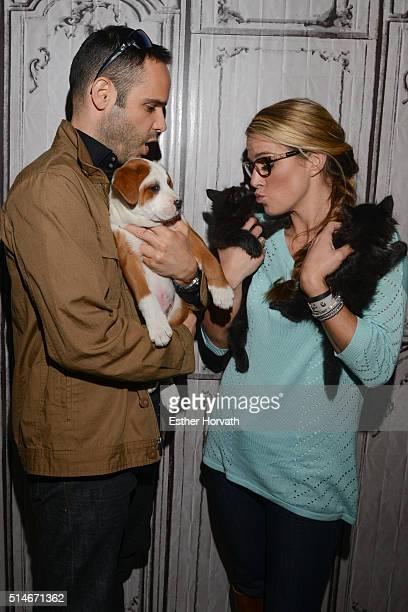 Dustin Feldman and Karissa Hadden attend AOL Build Speakers Series Karissa Hadden and Dustin Feldman Animal Storm Squad at AOL Studios In New York on...