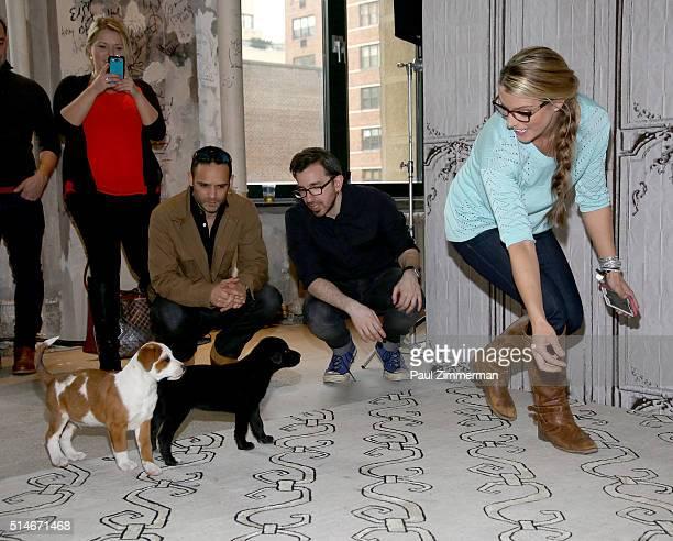 Dustin Feldman and Karissa Hadden attend the AOL Build Speakers Series Karissa Hadden and Dustin Feldman Animal Storm Squad at AOL Studios In New...