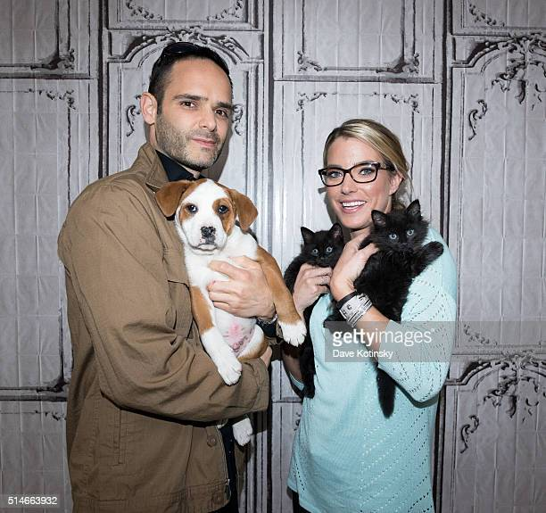 Dustin Feldman and Karissa Hadden of Animal Storm Squad attend the AOL Build Speakers Series at AOL Studios In New York on March 10 2016 in New York...