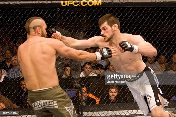Dustin Hazelett def Stevie Lynch Submission 250 round 1 during UFC 72 at Odyssey Arena on June 16 2007 in Belfast Northern Ireland