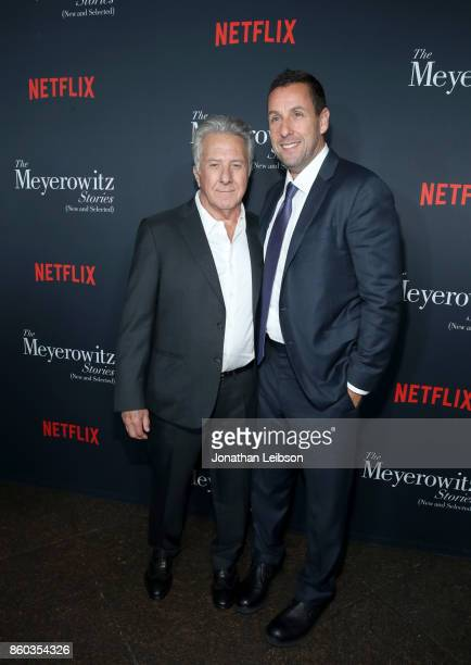 Dustin Hoffman and Adam Sandler at a special screening of The Meyerowitz Stories at DGA Theater on October 11 2017 in Los Angeles California