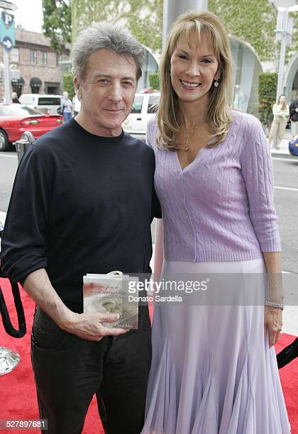 Dustin Hoffman and Cheryl Saban during Kelly and Martin Katz Join Irena and Mike Medavoy to Celebrate the Launch of Cheryl Saban's Newest Book Recipe...
