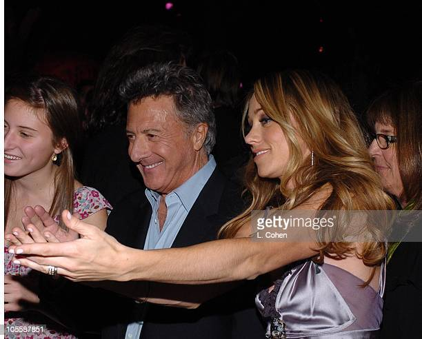 Dustin Hoffman and Christine Taylor during Meet the Fockers Los Angeles Premiere After Party at Universal Studios in Los Angeles California United...