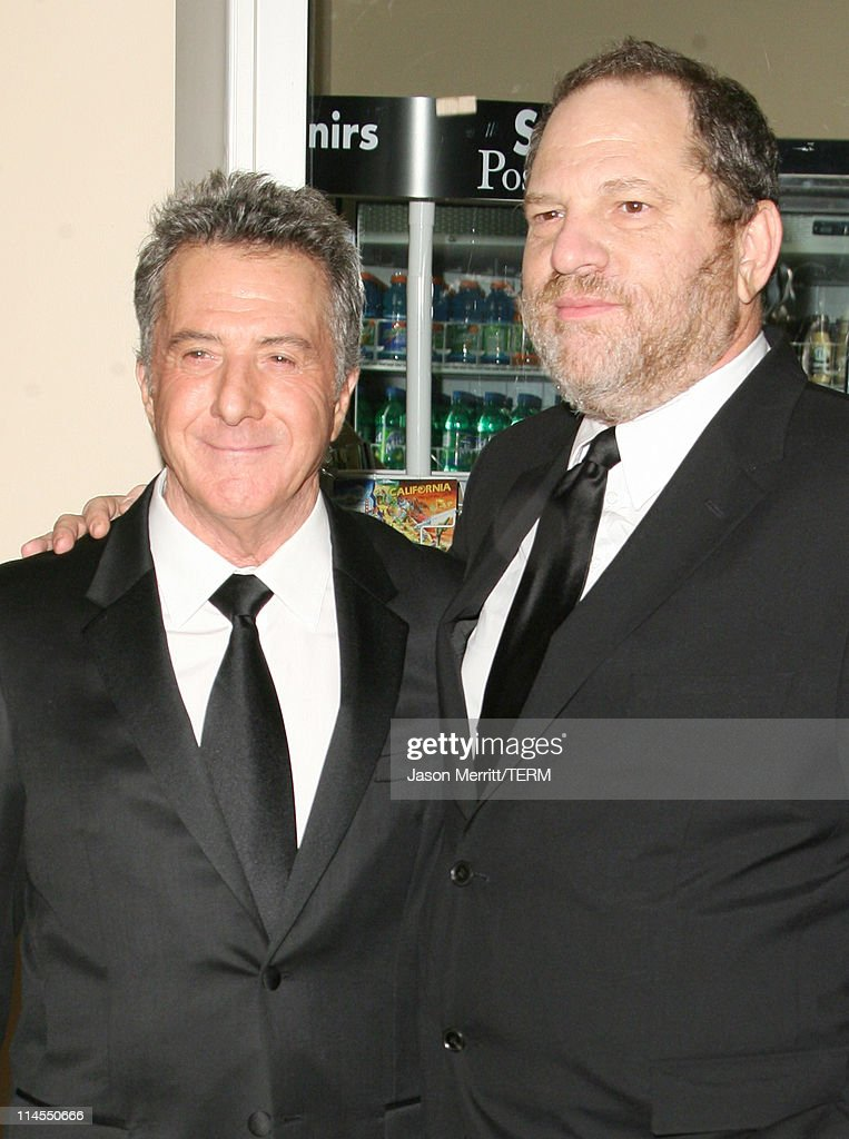 Dustin Hoffman and Harvey Weinstein during 2006 BAFTA/LA Cunard Britannia Awards - Arrivals at Hyatt Regency Century Plaza Hotel in Los Angeles, California, United States.