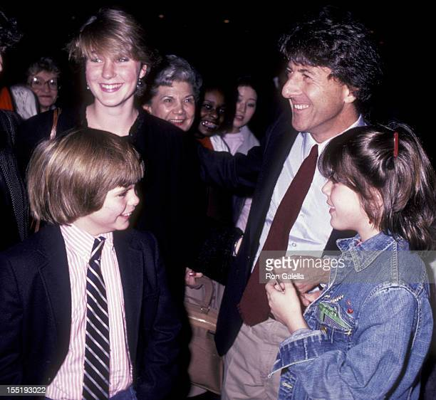 Dustin Hoffman and Justin Henry attend the premiere of Tootsie on December 4 1982 at the Ziegfeld Theater in New York City