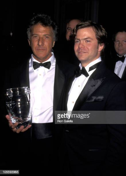Dustin Hoffman and Justin Henry during American Museum of the Moving Image Honors Dustin Hoffman at Waldorf Astoria Hotel in New York City New York...