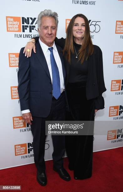 Dustin Hoffman and Lisa Hoffman attend The 55th New York Film Festival Meyerowitz at Alice Tully Hall on October 1 2017 in New York City
