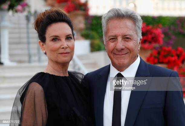 Dustin Hoffman and Lisa Hoffman attend the amfAR Gala Cannes 2017 at Hotel du CapEdenRoc on May 25 2017 in Cap d'Antibes France