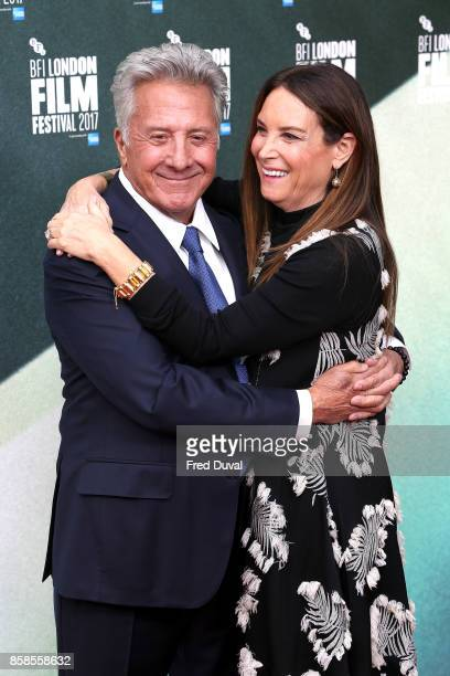 Dustin Hoffman and Lisa Hoffman attend 'The Meyerowitz Stories' UK Premiere during the 61st BFI London Film Festival at Embankment Gardens Cinema on...