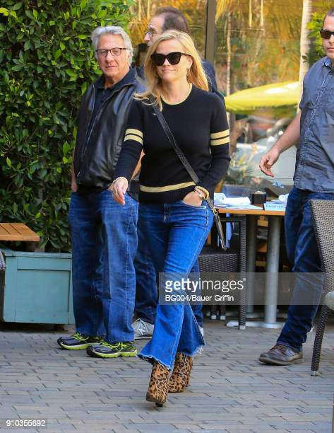Dustin Hoffman and Reese Witherspoon are seen on January 25 2018 in Los Angeles California