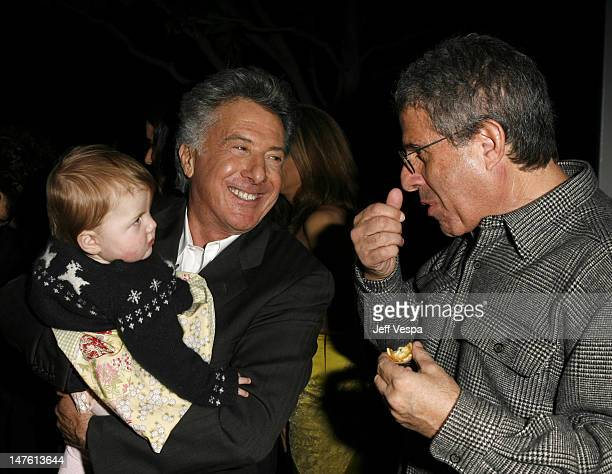 Dustin Hoffman and Ron Meyer during Lisa Hoffman Launches her Night and Day 24 Hour Skincare Line Inside at APOTHIA at Fred Segal in West Hollywood...
