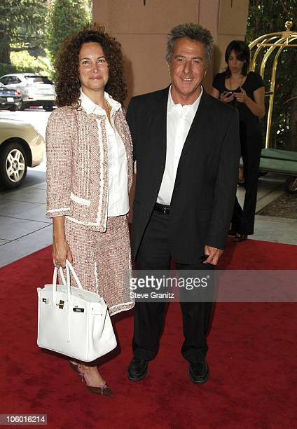 Dustin Hoffman and Wife during HFPA Holds Annual Installation Luncheon Arrivals at Beverly Hills Hotel in Beverly Hills California United States