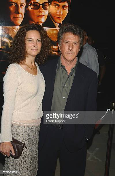 Dustin Hoffman and wife Lisa arriving at the premiere of Moonlight Mile