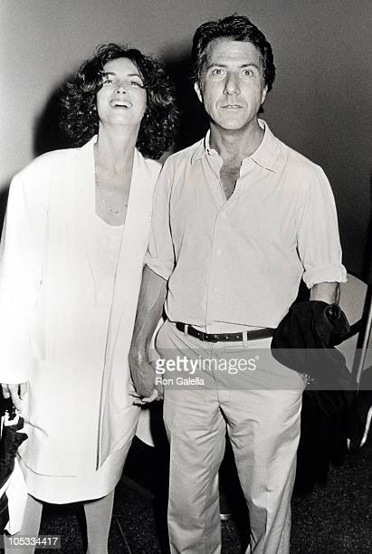 Dustin Hoffman and Wife Lisa during Death of a Salesman Screening at Paramount Theater in New York City New York United States