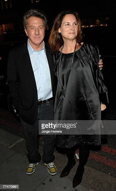Dustin Hoffman and wife Lisa Hoffman arrive to the Lisa Hoffman Bath And Shower Range Launch Party at Harvey Nichols on October 23, 2007 in London,...