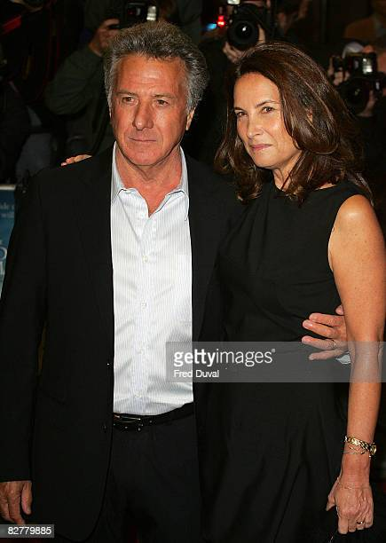Dustin Hoffman and wife Lisa Hoffman attend the Premiere of The Boy In The Striped Pyjamas at Curzon Mayfair on September 11, 2008 in London, England.