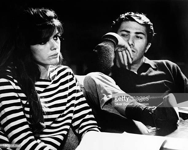 Dustin Hoffman as Ben Braddock and Katharine Ross as Elaine Robinson in 'The Graduate' directed by Mike Nichols 1967