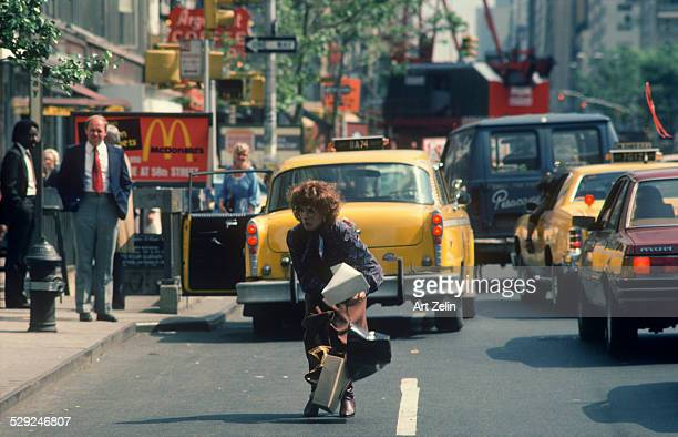 Dustin Hoffman as Tootsie on the street in NYC circa 1970 New York