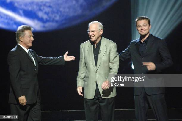 Dustin Hoffman Cpt Jim Lovell and Leonardo DiCaprio at Earth to America which airs on TBS Sunday November 20 at 8 pm 10423LC_70017jpg