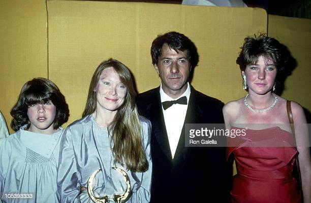 Dustin Hoffman daughters and Sissy Spacek during 1983 Your Choice Film Awards at Ambassador Hotel in Los Angeles California United States