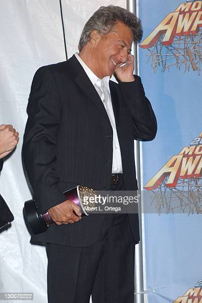 Dustin Hoffman during 2005 MTV Movie Awards Press Room at Shrine Auditorium in Los Angeles California United States