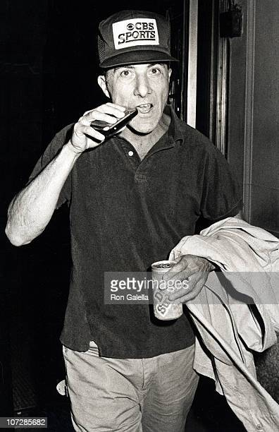Dustin Hoffman during Dustin Hoffman Sighting en Route to a Performance of Death of a Salesman June 21 1984 at Dustin Hoffman's Apartment in New York...