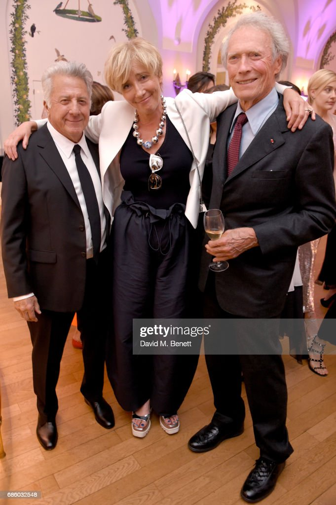 Dustin Hoffman, Emma Thompson, and Clint Eastwood attend the Vanity Fair and HBO Dinner celebrating the Cannes Film Festival at Hotel du Cap-Eden-Roc on May 20, 2017 in Cap d'Antibes, France.