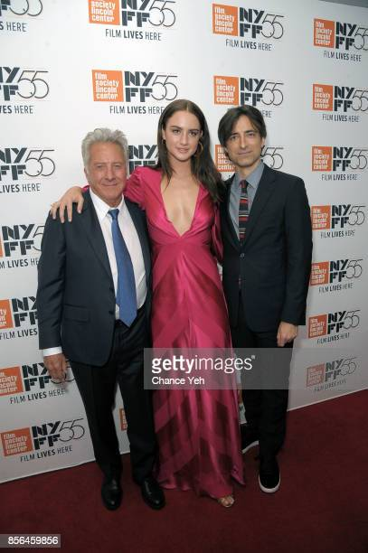 Dustin Hoffman Grace Van Patten and Noah Baumbach attend 'Meyerowitz Stories' screening during the 55th New York Film Festival at Alice Tully Hall on...