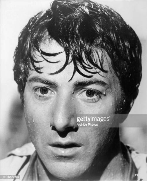 Dustin Hoffman is wet from the rain in a scene from the film 'The Graduate', 1967.