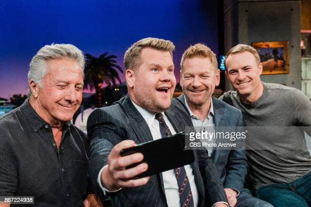 Dustin Hoffman Kenneth Branagh and Jordan Spieth chat with James Corden during 'The Late Late Show with James Corden' Thursday October 26 2017 On The...