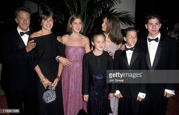 Dustin Hoffman, Lisa Hoffman, and children during American Film Institute Honors Dustin Hoffman with 1999 Life Achievement Award at Beverly Hilton...