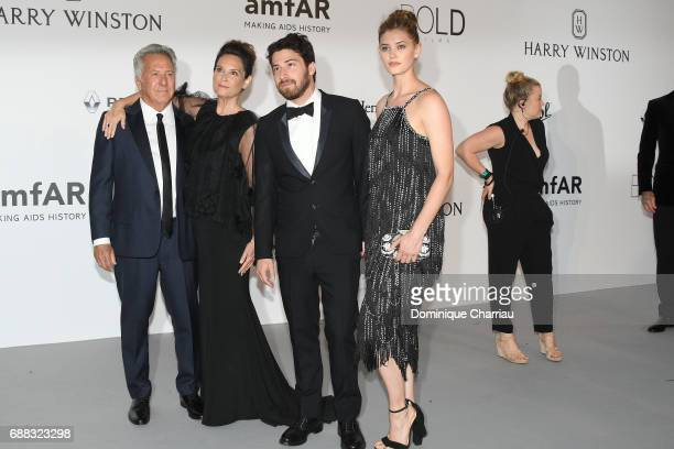 Dustin Hoffman Lisa Hoffman Jake Hoffman and guest arrive at the amfAR Gala Cannes 2017 at Hotel du CapEdenRoc on May 25 2017 in Cap d'Antibes France