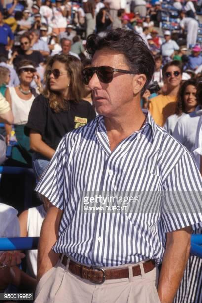 Dustin Hoffman à l'US Open de Flushing Meadows le 9 septembre 1990 à New York EtatsUnis