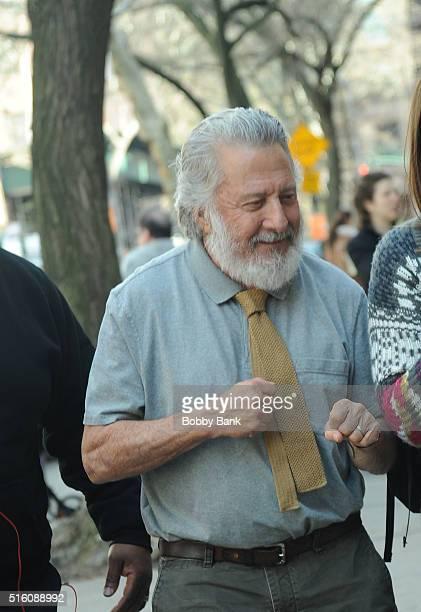 Dustin Hoffman on the set of director Noah Baumbach's Yah Din Ka Kissa on March 16 2016 in New York City