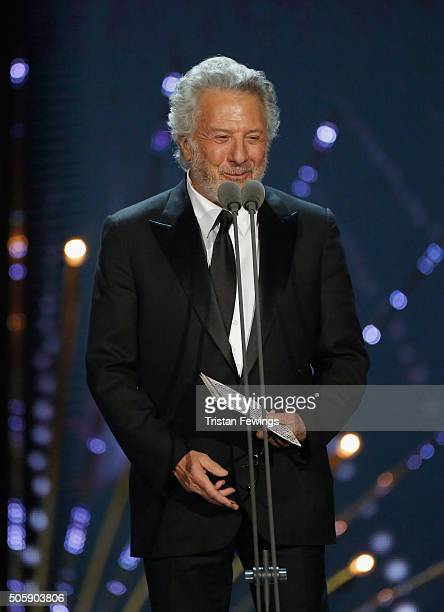 Dustin Hoffman presents the award for Special Recognition at the 21st National Television Awards at The O2 Arena on January 20 2016 in London England