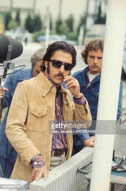 Dustin Hoffman sur le tournage du film 'Le récidiviste' d'Ulu Grosbard en juin 1977 EtatsUnis