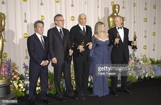 Dustin Hoffman Tom Rosenberg Albert S Ruddy Barbra Streisand and Clint Eastwood winner Best Picture and Best Director for 'Million Dollar Baby' and...